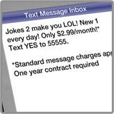 Joke Service Cell Phone Ad